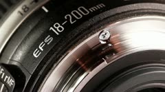Telephoto lens Stock Footage