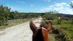 Horseback Riding POV Stock Footage