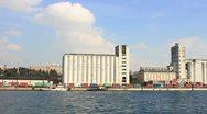Port granary Stock Footage