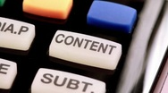Remote control. Content button Stock Footage