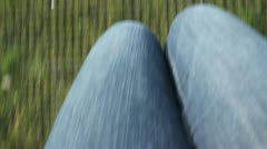Legs Swinging on a Swing POV HD Stock Footage