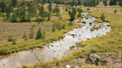 Mountain River Flows Stock Footage