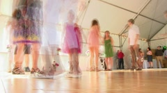 Dance Floor Time Lapse Stock Footage