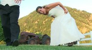Cute Married Couple Portrait Stock Footage