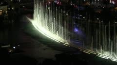 LASVEGAS-0056 BELLAGIO FOUNTAIN AT NIGHT - stock footage