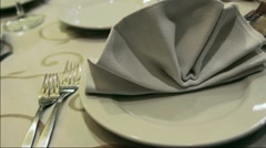Wedding banquet table Stock Footage