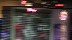 LASVEGAS-0061 DYNAMIC HANDHELD MOTION Stock Footage