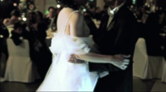Bride and Groom dancing Diffusion Effect Stock Footage