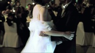 Stock Video Footage of Bride and Groom dancing Diffusion Effect
