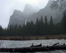 Merced River and Yosemite National Park in Winter GFSD Stock Footage