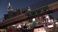 Stock Video Footage of LASVEGAS-0067 DUSK DRIVING TIMELAPSE