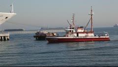 Cruise ship in Long Beach California Stock Footage