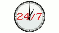 Clock: 24/7 Stock Footage