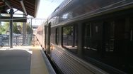 Train leaving the station (1 of 3) Stock Footage