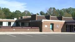 Empty school parking lot (2 of 2) Stock Footage