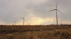 Wind Turbine Medium 59.94 720 - stock footage
