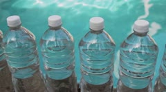 Water Bottles Dolly Shot Stock Footage