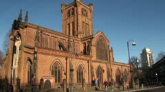The Parish Church of St John the Baptist,  Coventry Stock Footage