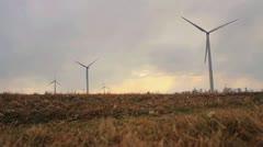 Wind Turbine Medium 23.98 1080 - stock footage