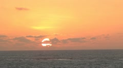 Tropical sunset over the Pacific Ocean Stock Footage
