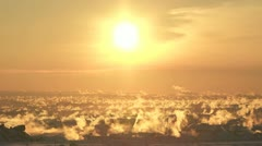 Winter City Sunrise 05 Stock Footage