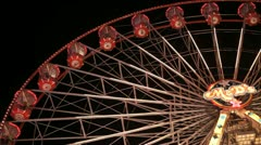 Stock Video Footage of Looking up at Giant Big Wheel Carnival Fairground