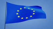 Stock Video Footage of euro flag