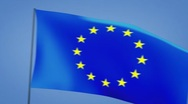 Stock Video Footage of euro flags moving