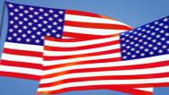 Stock Video Footage of us flags moving SALE!