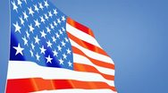 Stock Video Footage of us flag close up