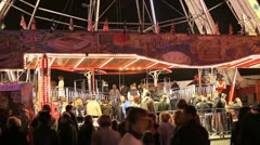 Ferris Wheel Carnival Queue Stock Footage