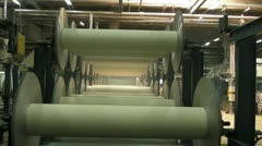 Textile Production Rollers Stock Footage