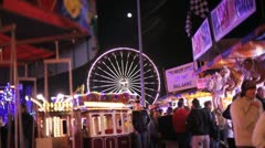 Giant Wheel in Fairground setting Stock Footage
