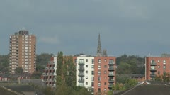 Flats and Tower Blocks in Distance Stock Footage