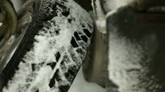 Changing winter tires - stock footage