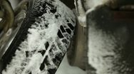 Stock Video Footage of Changing winter tires