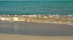 Waves On Sandy Beach - stock footage
