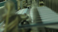 Textile Weaving Machine Stock Footage