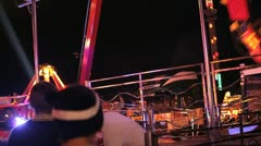 Fun Spinning Fairground Ride Stock Footage