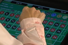 Placing Bets for Electronic Roulette Stock Footage
