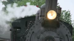 Front of a train sitting at the station (2 of 2) Stock Footage