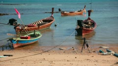 Fisher boats. Stock Footage