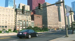 Traffic in Downtown Chicago 1 Stock Footage