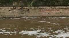 Foamy Water Passing HD Stock Footage