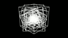 cube Array inside - stock footage