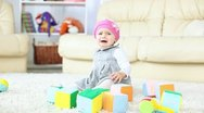 Baby girl crying Stock Footage