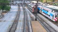 Speedy Chicago El Trains Stock Footage