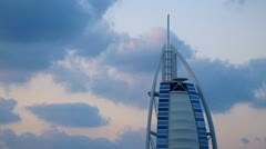 Burj al Arab hotel Stock Footage