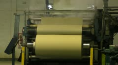 Textile Rolling Machine Stock Footage