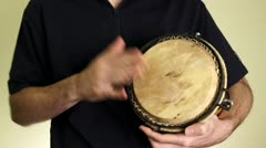 Musician Playing Percussion Stock Footage